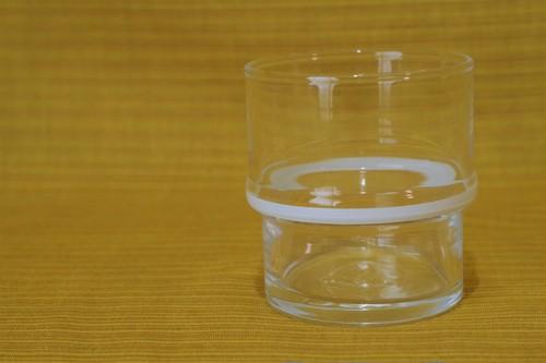 白いライン HOYA ビゴラス タンブラー スタッキング ガラスコップ グラス 昭和レトロ 古道具