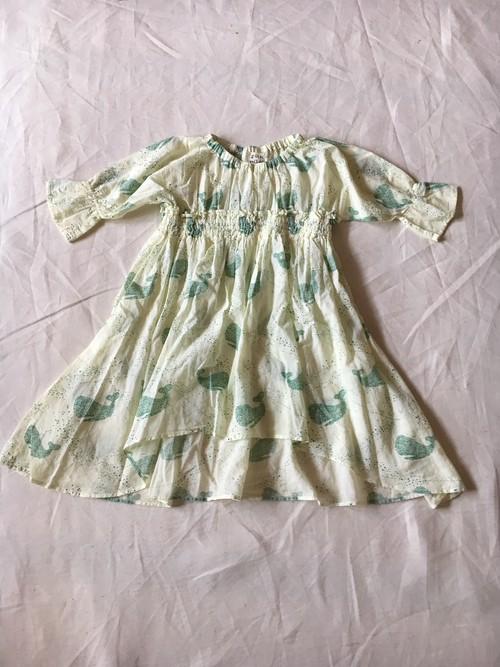 30% off  Lサイズwhale print dress レモンイエロー¥13932 →