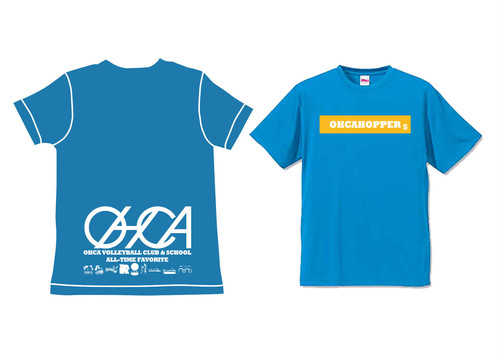 OHCAHOPPERS Tシャツ ターコイズブルー×イエロー 009(NEW)
