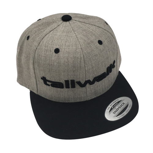 FLAT VISOR CAP HEATHER GRAY