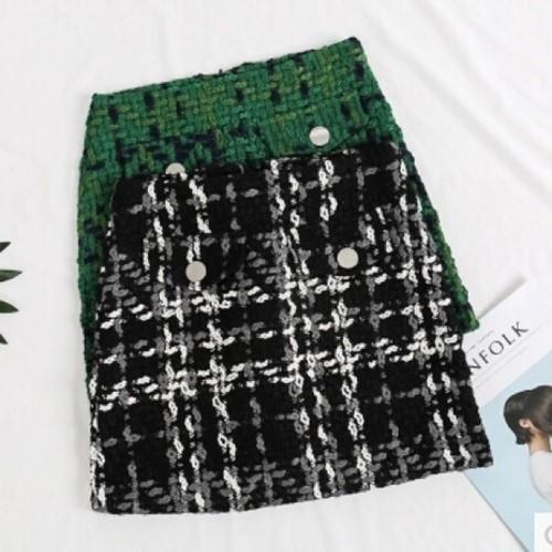 【予約】カラーココツイードスカート