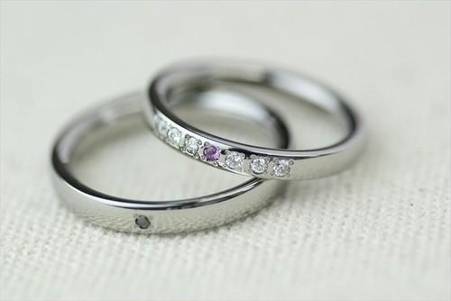 プラチナ結婚指輪 素心 7石 七つ星 <No1-4>
