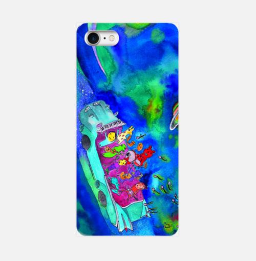 【L】キャバデラック宇宙の旅/スマホケースAndroidLサイズ, iPhone6Plus/6sPlus/7Plus/8/8Plus/XR/XS Max
