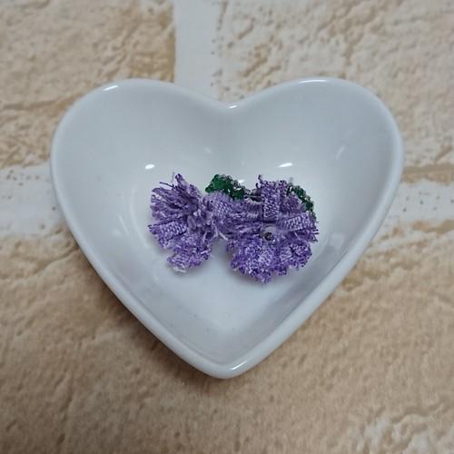 布製 お花のピアス