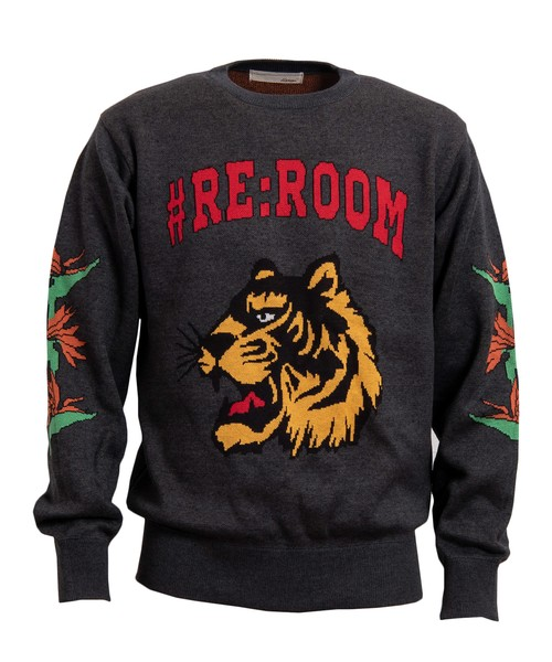 #RE:ROOM TIGER JACQUARD CREW KNIT[REK047]