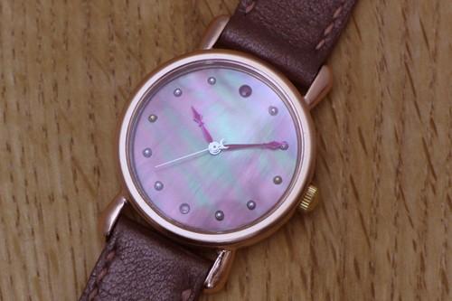 Lamazion Watch ピンクゴールド  黒蝶貝①