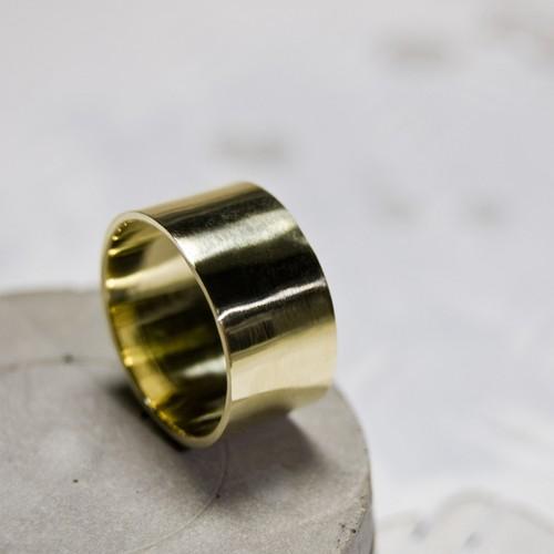 ブラスフラットリング 10.0mm幅 鏡面 3号~27号|WKS FLAT RING 10.0 bs mirror|BRASS 真鍮 FA-274