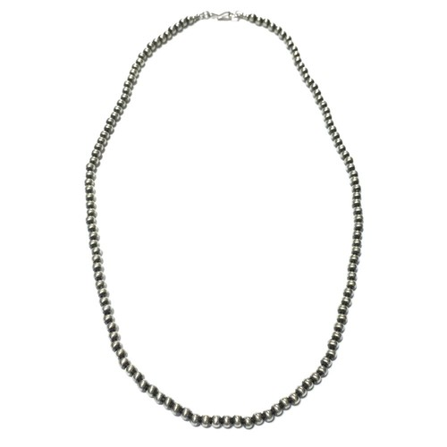 Navajo Sterling Silver Beads Necklace by Marilyn Platero
