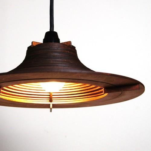 「ビッグハット」木製ペンダントライト