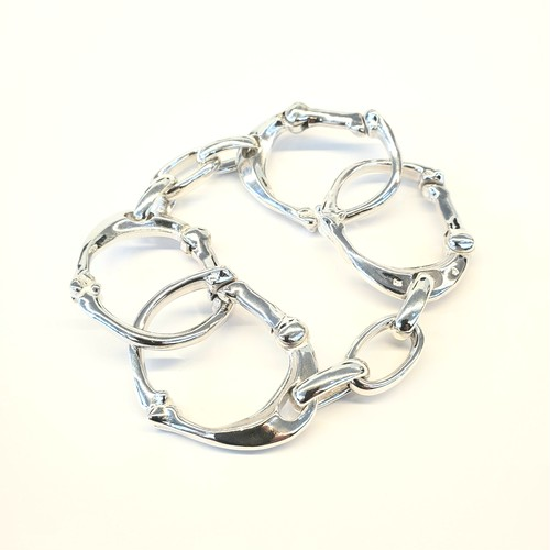 bone shaped carabiner bracelet.-L-