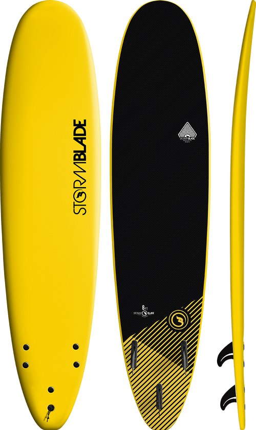 Storm Blade 8ft Surfboard / Yellow