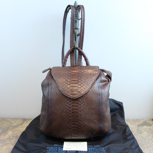 .IBIZA PYSON LEATHER RUCK SUCK/イビザパイソンレザーリュックサック 2000000035970