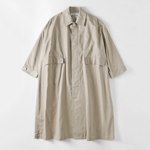 【SETTO】LEAF COAT (SMOKE BEIGE) オーバーコート ユニセックス 日本製 セット MADE IN JAPAN