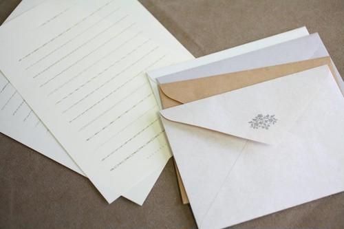 活版印刷の小粋なアクセント・「装飾罫線」レターセット