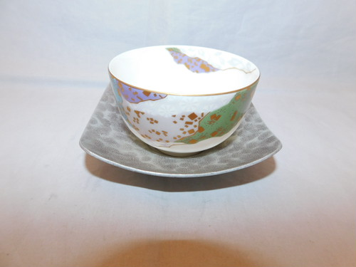 アルミニウム茶托(5客) aluminum Japanese tea five saucers (No16)