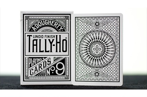 White Tally-Ho (Circle Back) Playing Cards