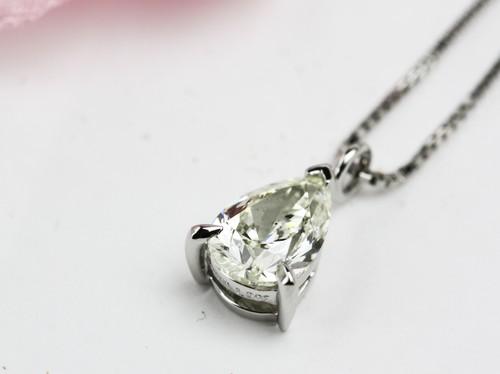 ペアーシェイプカットのダイヤペンダントリフォーム