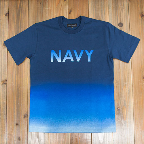 COOCHUCAMP : Happy Gradation T-shirt / Navy