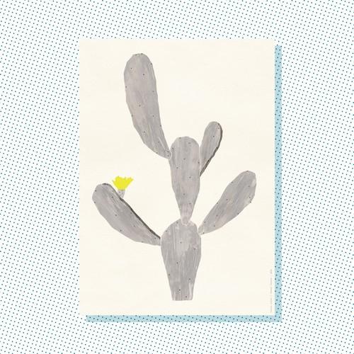 A4 Print: Cactus silver