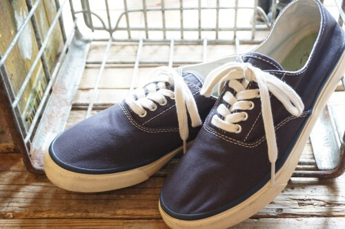 SPERRY TOP-SIDER navy canvas deck Sneaker