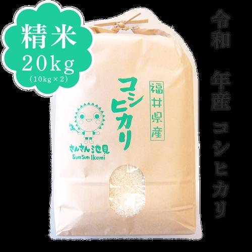 【新米】令和2年産 コシヒカリ 精米20kg(10kg×2)