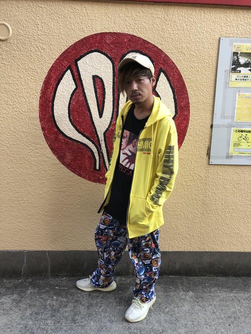 ジップブラインドパーカー【イエロー】