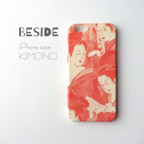 【 KIMONO 】希少☆アンティーク着物iPhoneケース(江戸美人画)
