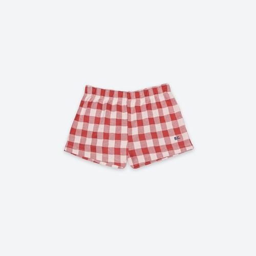 《BOBO CHOSES 2021SS》Vichy Jersey shorts / 2-11Y