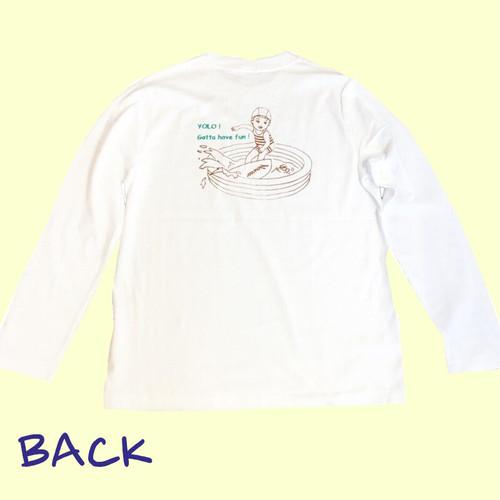 Noweee ロングTシャツ Surfingバージョン ホワイト メンズ
