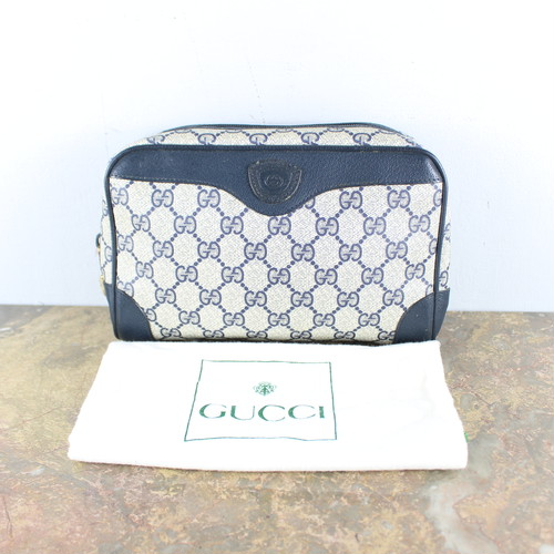 .OLD GUCCI GG PATTERNED CLUTCH BAG MADE IN ITALY/オールドグッチGG柄クラッチバッグ2000000050980
