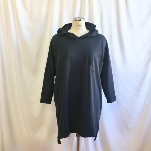 再販×2 人気シリーズ新作❤️パーカーフード付きビック長袖Tシャツチュニック(サイズフリーL〜 L L)※受注制作です。