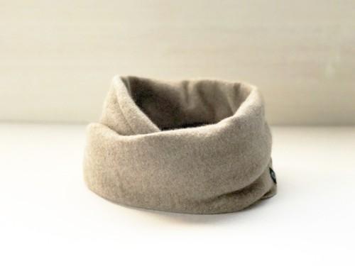カシミヤスヌード【 Pure cashmere snood Beige 】
