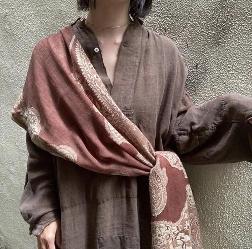 vintage shawl/marron