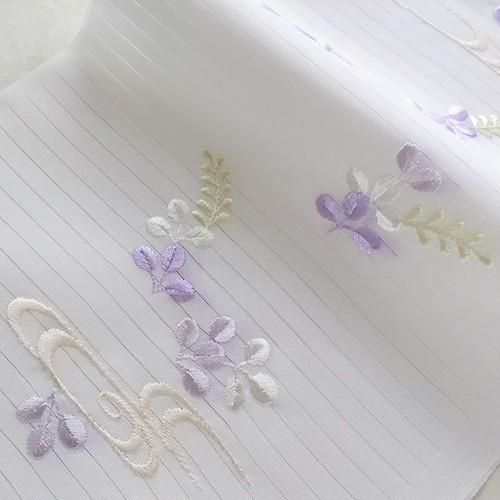 【半衿】萩 薄紫 / 夏用