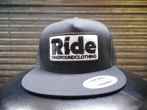 ride ongroundclothingのキャップ ブラック