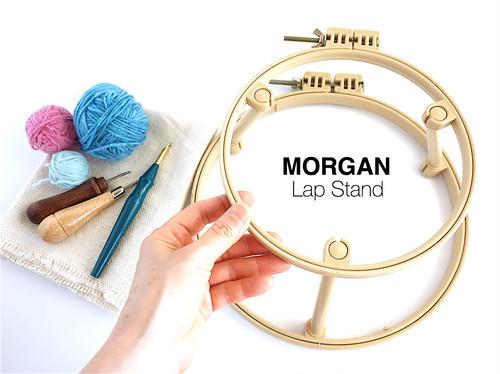 【再販】ループ&ニードル・フレーム【2段式・布がずれにくい溝付き刺繍枠】MORGAN / USA製