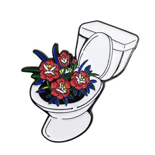 "STRIKEGENTLY.CO""Toilet Pin"""