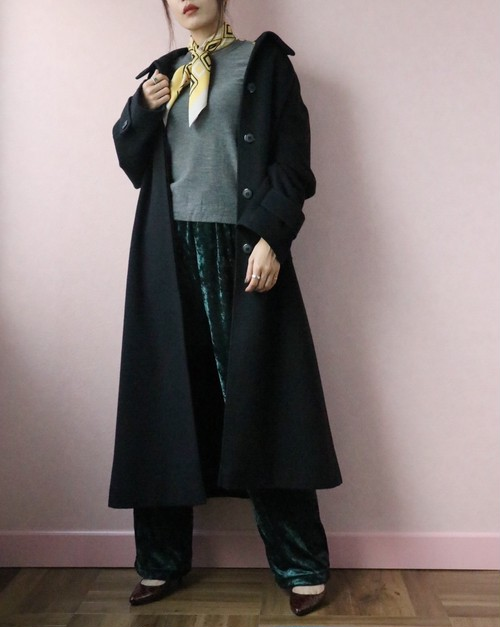 black cashmere 100% coat