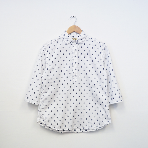 2/3 SLEEVE SHIRT PULLOVER (ANCHOR WHITE)