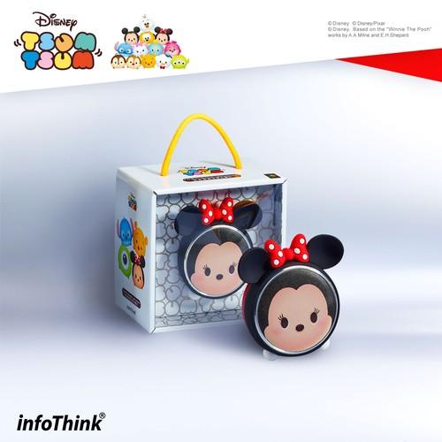 InfoThink Bluetoothスピーカー Disney ディズニー ツムツム LEDライト 5V/0.5A ミニーマウス IT-BSP100-Mini