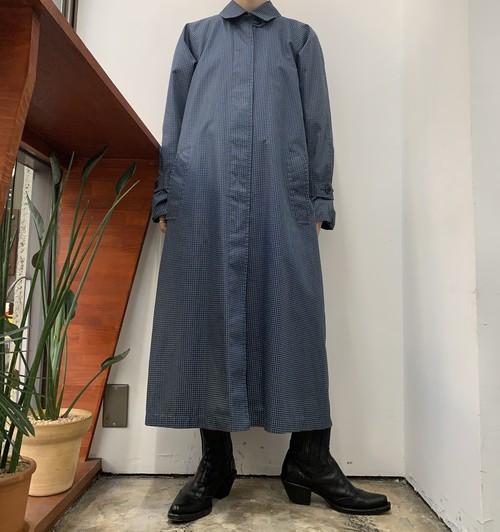 LONDON FOG graph check soutien collar coat 【8】