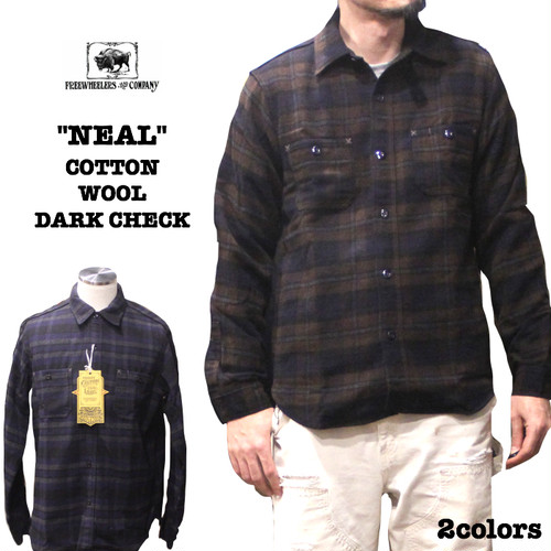 "FREEWHEELERS/フリーホイーラーズ Neal Cassady Rail Road  ""Neal"" COTTON WOOL DARK CHECK  2colors #1833001"