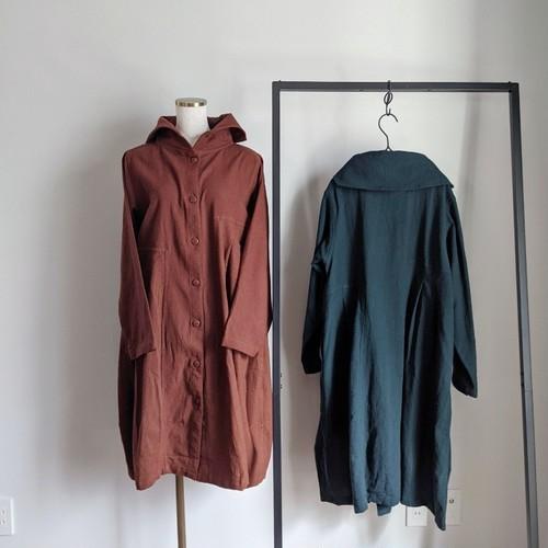 チェンマイ 羽織り物にもなる2wayタイコットンのワンピース レンガ