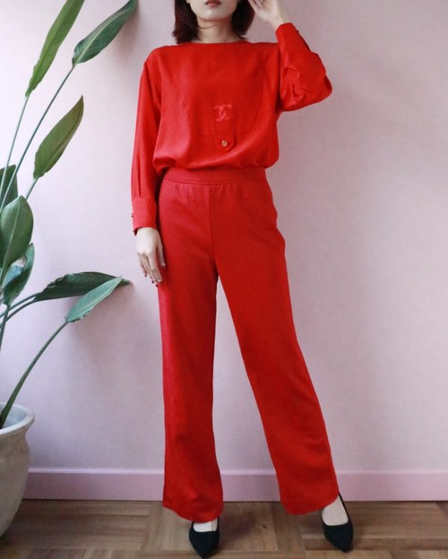 GIVENCHY 70s red  pants