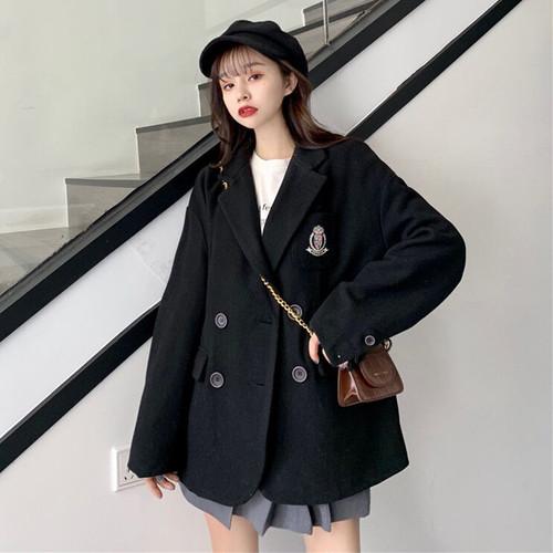 【アウター】2019韓国系ファッション折襟ダブルブレストナイロンアウター