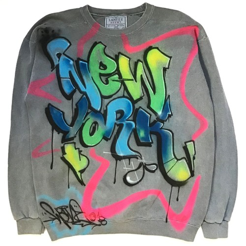 CUSTOM AIRBRUSHED NEW YORK CREWNECK BY WANE C.O.D