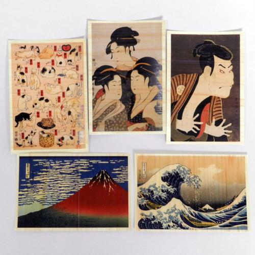 国産ひのきのポストカード~浮世絵シリーズ