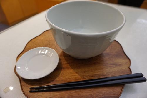 乳白釉面取り麺鉢大【土井義男】