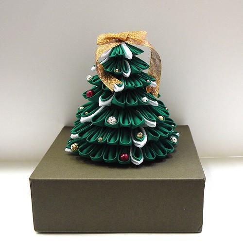 【Izuchi】つまみ細工クリスマスツリー/インテリア小物