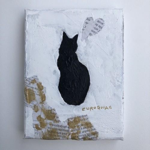 【ちいさなキャンバス画】love for black cats